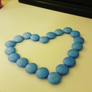 Blue Smarties Heart